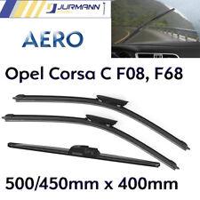 3er Komplett-Set Aero Scheibenwischer Vorne 500/450 & Hinten 400 Opel Corsa C