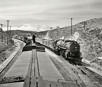 Santa Fe Chief Steam Locomotive Photo 3770 1940's  ATSF railroad train
