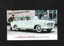 1959 Rambler American Station Wagon Automobile Promo Postcard Milwaukee Z32