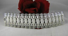 Vintage Sarah Coventry Silver tone Ornate Bracelet  FERAL CAT RESCUE