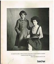 Publicité Advertising 1977 Pret a porter vetements pour enfants Bercher