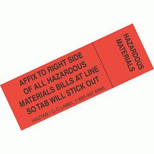 HazTab (Hazardous Material) Bill of Lading and Shipping Document Marker