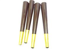 Original Lot Modern Brown Brass Colored Accent Plastic Furniture Legs Chair Feet