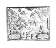 Antique map, Delineatio oppidi Halldae …