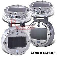 X4 LED Car Auto Solar Energy Flash Wheel Tire Caps Neon Light Lamp Decoration US