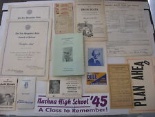 Vintage 1930's to 1980's Assorted New Hampshire NH Paper Items Lot