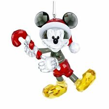 Swarovski Crystal Mickey Mouse Christmas Ornament 5412847 .New In Box.