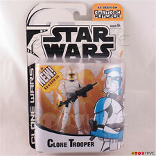 Star Wars Clone Wars animated Yellow Clone Trooper Cartoon Network action figure