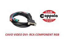 CAVO VIDEO DVI / RGB ( COMPONENT RCA )VERDE/ROSSO/BLU' 1,8 MT GBC 59664030