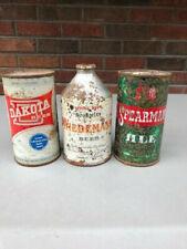 Wiedemann Crowntainer, Dakota Flattop, Spearman Ale Flattop, 3 Solid Dumpers.