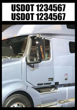 "2 - USDOT #'s - Semi Truck Number - VIN ICC MC GW Vinyl Decal Stickers - 2"" & 3"""