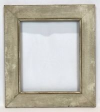 Antique Early 20th C White Painted Distressed Frame 10 x 12 Opening