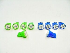 10 Chevy Blue Green Turn Signal Hi-Beam LED Indicator Light Bulb Lamp 194 NOS