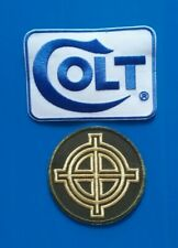 2 GUN SIGHT W/ COLT ZODIAC FIREARM Embroidered Iron Or Sewn On Patches Free Ship