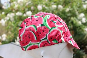 CYCLING CAP 100% COTTON SANDIA HUUU  HANDMADE IN USA, NO FROM CHINA   S M L