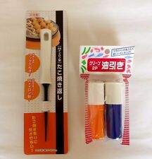TAKOYAKI Turning PIN PICK Nylon 66 & Oil Brush 2pics Made In JAPAN F/S