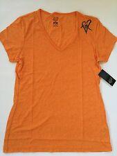 $26 Fox Racing Women's Limiter V-neck Tee Orange Flame  Size L