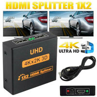 4K 3D 1 in 2 Out HDMI Splitter 1080P HD Umschalter Verteiler Switcher HDTV
