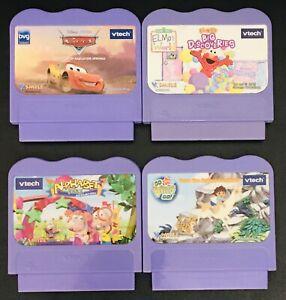 VTECH VSMILE LEARNING System 4 GAME Lot, Elmo, Disney Cars, Diego, Alphabet Park