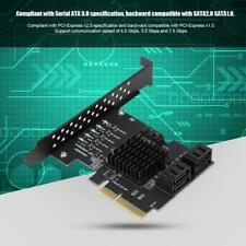 5-port SATA3.0 PCI-E Expansion Card Adapter Extender for WIN7 WIN8 WIN10 LINUX