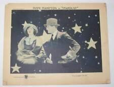 Scarce original 1922 lobby card: Hope Hampton in Stardust; tinted card.
