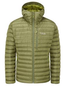 RAB Mens Chlorite Green Microlight Alpine Hooded Down Jacket Medium BNWT
