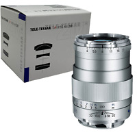 New Carl ZEISS Tele-Tessar T * 85mm f4 ZM Lens Leica M - SILVER - Made in Japan