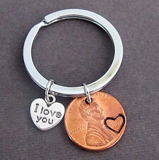 I Love you Penny Keychain,Couples Keychain,Husband Wife Key Chain,His/Hers Gift