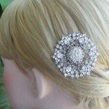 Elegant Clear Rhinestone Crystal Flower Bridal Hair Comb Wedding Tiara 03326C1