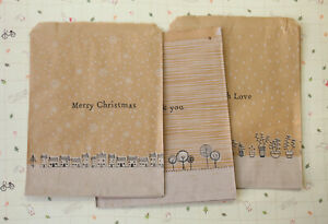 East of India Large Kraft Brown Paper Bags wedding party favour xmas gift bags
