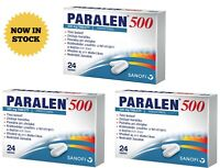 3x Paralen 500 - 24 tablets Effective Against Pain & Fever Headache