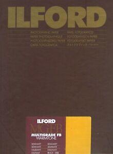 "Ilford Multigrade FB Warmtone Semi-Matt 8x10"" (20.3x25.4cm ) 100 sheets"