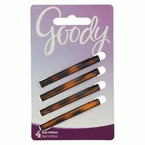 Goody Hair Classics Stay Tight Hair Barrette Mock Tort 4 Count