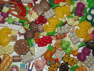 Playmobil Lot x10 Accessoires Nouriture Foods Differentes NEW