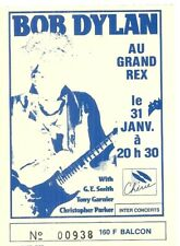 RARE / TICKET BILLET DE CONCERT - BOB DYLAN : LIVE A PARIS ( FRANCE ) 1990