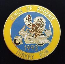 Wings of Phoenix Enamel Lapel Pin 1993 Turkey Run Honda Goldwing Motorcycle