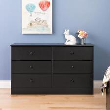 Prepac Astrid 6-Drawer Dresser  Black - BDBR-0402-1 NEW