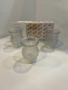 New In Box Princess House Fantasia 3 Crystal Votive Candle Holders 571