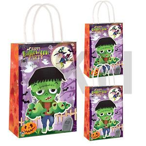 3/6/12/24 x Halloween Black Cat Loot Treat Party Bags trick or treat Paper Bag