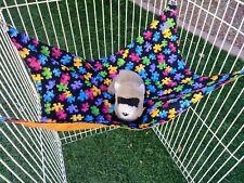 "Ferret Large Hammock - Colorful Puzzle Pieces 12"" x 17"""