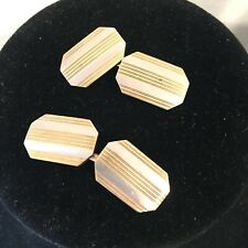 Art Deco Edwardian?14K gold and platinum Cuff Links octagon classic 9g double