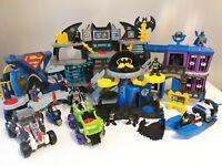 Imaginext Batman Joker Large Play Set Job Lot Bundle Figures Buildings Vehicles