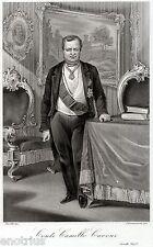 Camillo Benso,Conte di Cavour,Primo Ministro Regno di Sardegna.Risorgimento.1863