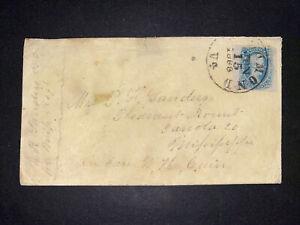 Confederate States Scott 9-a6, on cover good condition. Scott Price 1500.00$