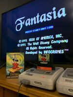 Fantasia Mickey Mouse Sega Megadrive Boxed Retro Game Pal Version