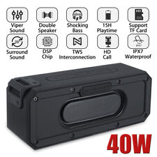 More details for 40w portable wireless bluetooth speaker 6600mah waterproof bass stereo subwoofer