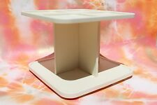 Vintage Tupperware 2164A-1 Spice Rack Lazy Susan Carousel Caddy, Square Ivory
