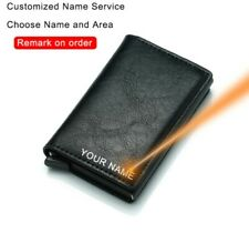 CUSTOMIZED Rfid Card Holder Men Small WALLET Leather for Money & Cards