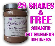28 Meal Replacement Diet Shakes with Whey Protein -Weight Loss-VLCD-SHAKE IT OFF