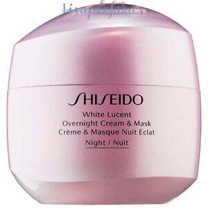 Shiseido White Lucent Overnight Cream & Mask 2.6oz / 75ml NIB